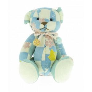 Petit ours en chirimen, Bleu