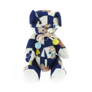 Petit ours en chirimen, Bleu foncé