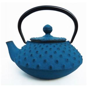 Théière en fonte japonaise bleue, 330ml