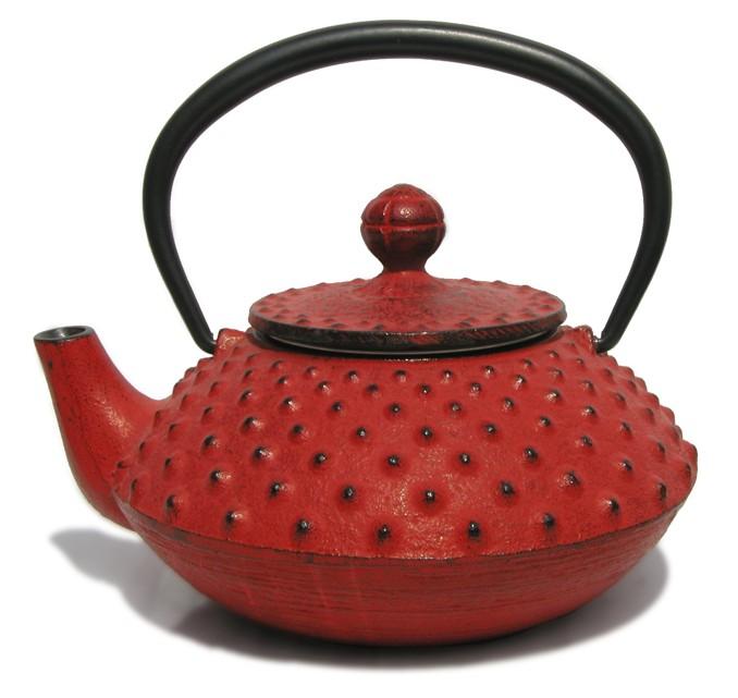 Th i re en fonte japonaise rouge - Theieres en fonte japonaises ...