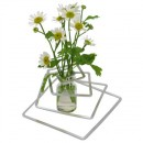 """Vase soliflore """"Spirale"""", en aluminium et verre"""