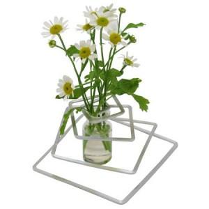 """Vase design """"Spirale"""", aluminium et verre"""