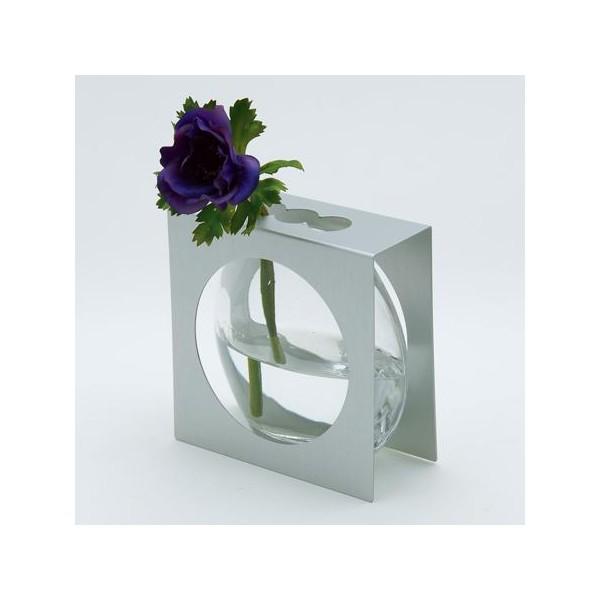 vase verre et aluminium import japon. Black Bedroom Furniture Sets. Home Design Ideas