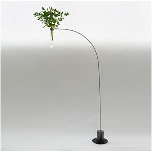 """Vase soliflore """"Equilibre"""", verre et aluminium"""