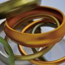 Bracelets en aluminium, 2,6 cm de largeur
