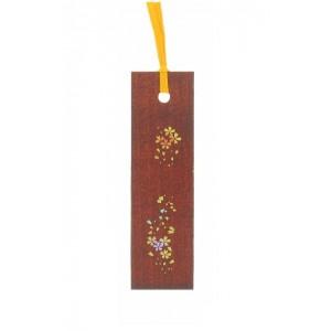 Marque-page décoré, en bois laqué, Sakura