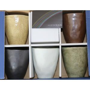 Set de 5 tasses en céramique