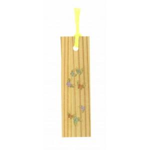 Marque-page décoré, en bois, motif papillon