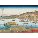 Ukiyoe Eté à Ryogoku- Xylographie