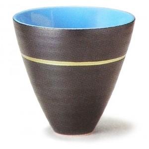 Vase noir Ikebana
