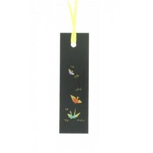 Marque-page décoré, en bois, motif Grues