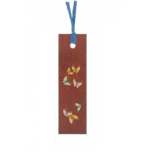 """Marque-page décoré, en bois laqué, motif """"Papillons"""""""