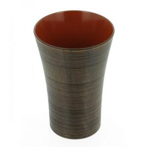 Cinq verres à Sake en bois laqué