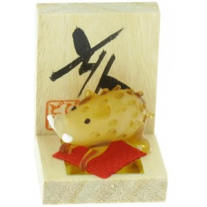Figurine en verre - Signe Zodiaque Chinois - Le Cochon