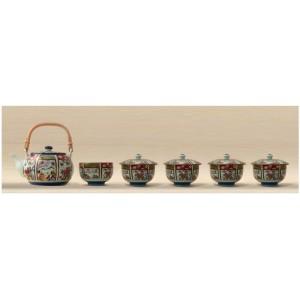 Service à thé Koimari, une théière et cinq tasses