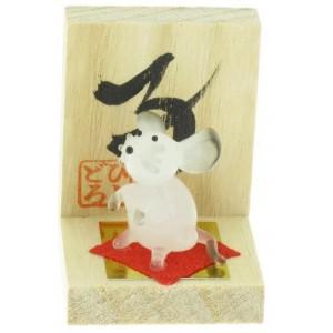 Figurine en verre - Signe Zodiaque Chinois - Le Rat