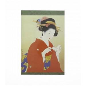 Carte/Décoration Geisha, beauté japonaise