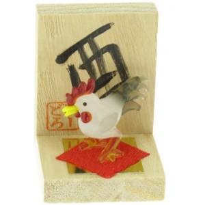 Figurine en verre - Signe Zodiaque Chinois - Le Coq