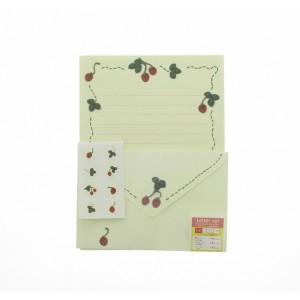 Papier à Lettre et Enveloppes - Fraises