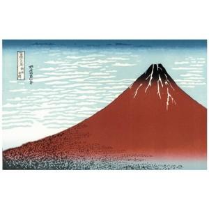 Ukiyoe Mont Fuji - Xylographie