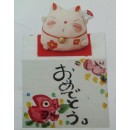 Chat japonais en céramique