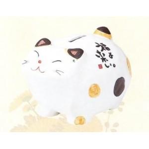Tirelire Maneki Neko en céramique