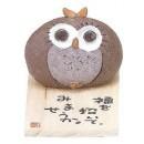 Hibou porte-bonheur en céramique