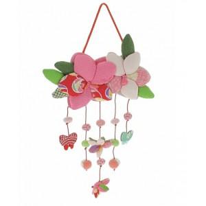 Mobile japonais - Fleurs et Papillons