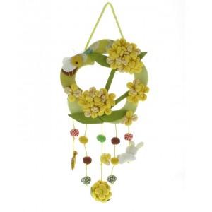 Mobile japonais - Fleurs jaunes et Abeille