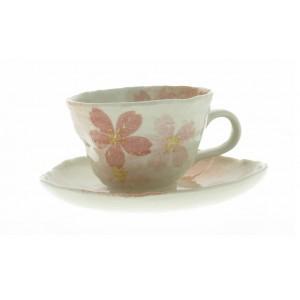 Tasse à café et soucoupe assortie - Sakura