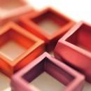 Pendentif carré Aluminium, 25 couleurs au choix
