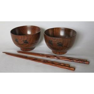 Set de 2 bols avec baguettes