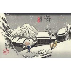 "Ukiyoe - Xylographie ""Paysage d'hiver"""