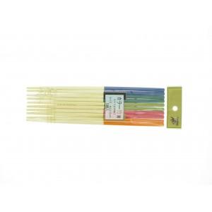 Cinq paires de Baguettes multicolores