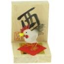 Figurine en verre - Signe Zoodiaque Chinois - Le Coq