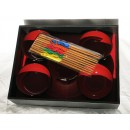 Set de 5 bols et 5 paires de baguettes japonaises