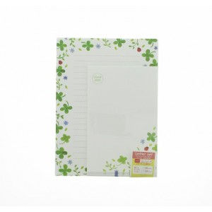 Papier à Lettre et Enveloppes - Trèfles