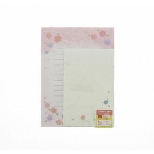 Papier à Lettre et Enveloppes - Fleurs roses