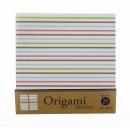 Origami, motifs rayures pastels, 15 cm