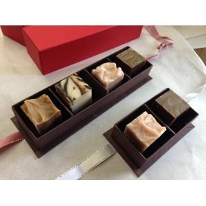 Quatuor de Savons bio en forme de chocolats