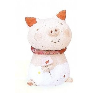 Cochon en céramique