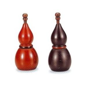 Salière et poivrière en bois laqué