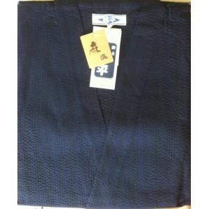 Jinbei bleu, rayures noires